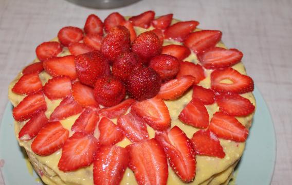 Медовый торт на сковороде - фото шаг 21