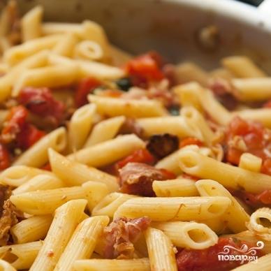 Паста с беконом и помидорами  - фото шаг 13