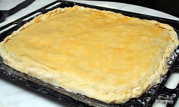 Пирог с сыром и мясом - фото шаг 11