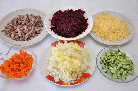 "Рецепт Салат ""Букет невесты"""