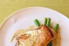 Жареная курица в кремовом соусе с горчицей