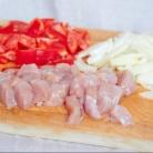 Рецепт Курица в сметане с красным перцем