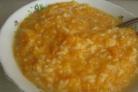 Каша из тыквы с рисом и молоком