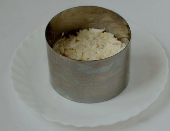 """Салат """"Нежность"""" с сыром - фото шаг 3"""