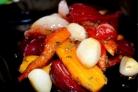 Запеченные овощи кусочками