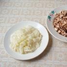 Рецепт Печень с рисом и грибами