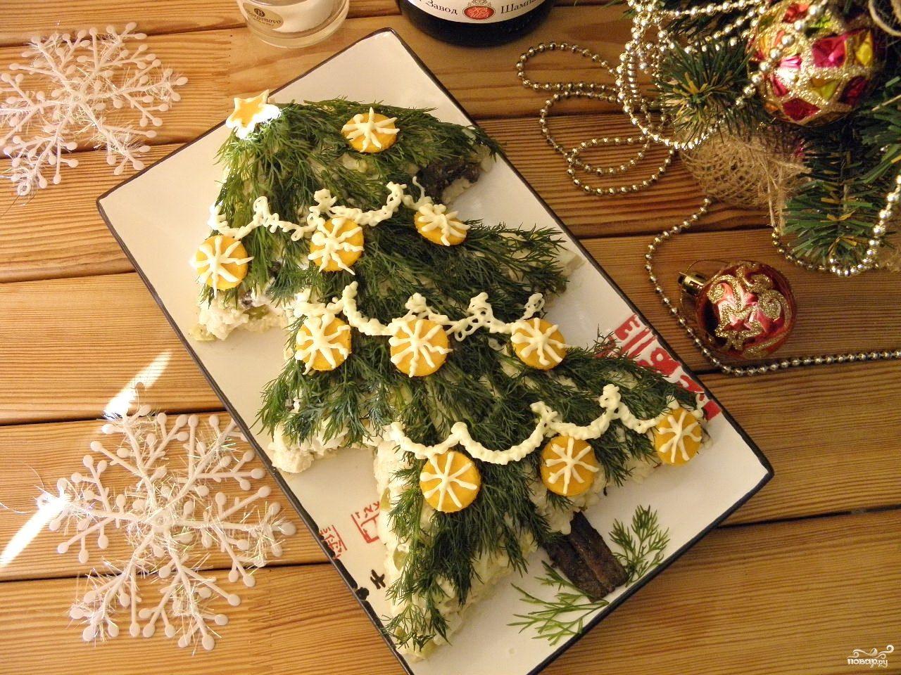 Новогодние рецепты салатов пошагово