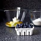 Рецепт Черничные оладьи с йогуртом