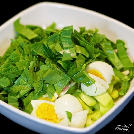 Салат из черемши с яйцом - фото шаг 5
