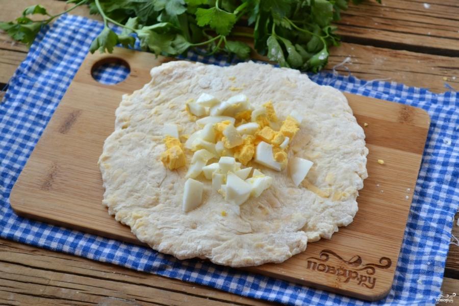 Сырные лепешки на кефире - фото шаг 5