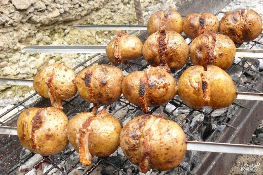 Рецепт Шашлык из картофеля