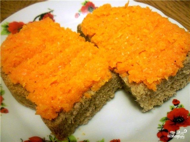 Рецепт Морковь жареная с луком