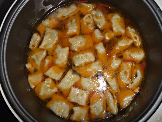 Суп с галушками в мультиварке - фото шаг 10