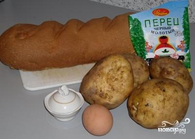 Гренки с картофелем - фото шаг 1