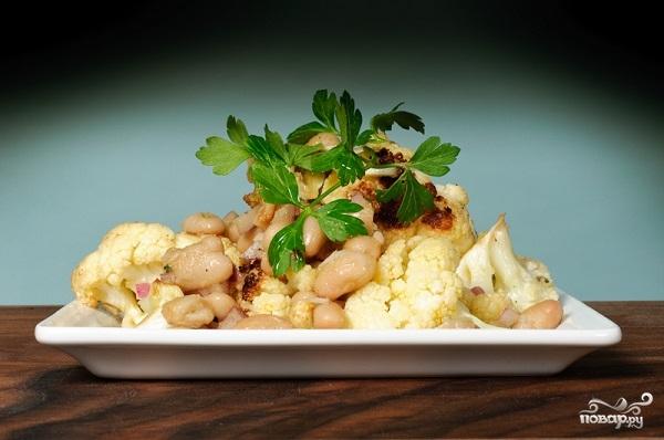 Рецепт Фасоль с цветной капустой