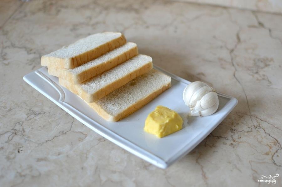 Рецепт Тосты с чесноком