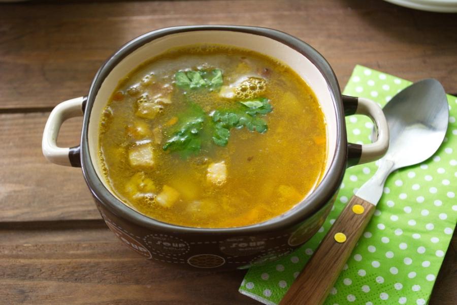 Гороховый суп с копченым салом - фото шаг 10