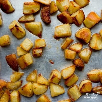 Запеченный картофель кусочками - фото шаг 5