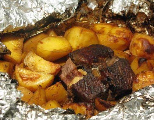 говядина а духовке в фольге рецепт с фото