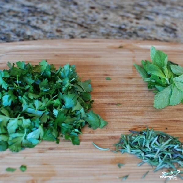 Рецепт Стейки в зеленом маринаде