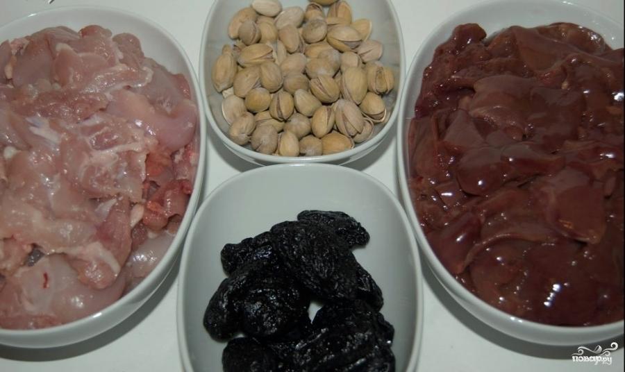Рецепт Паштет из утки с черносливом