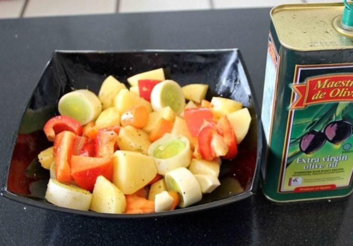 Баранина, жареная с овощами   - фото шаг 5