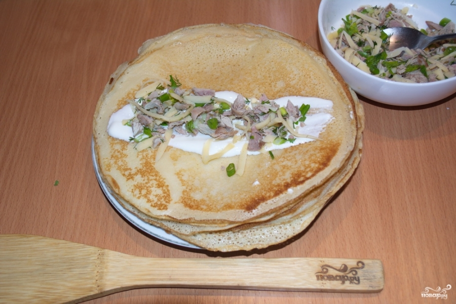 Закуска с блинами - фото шаг 8