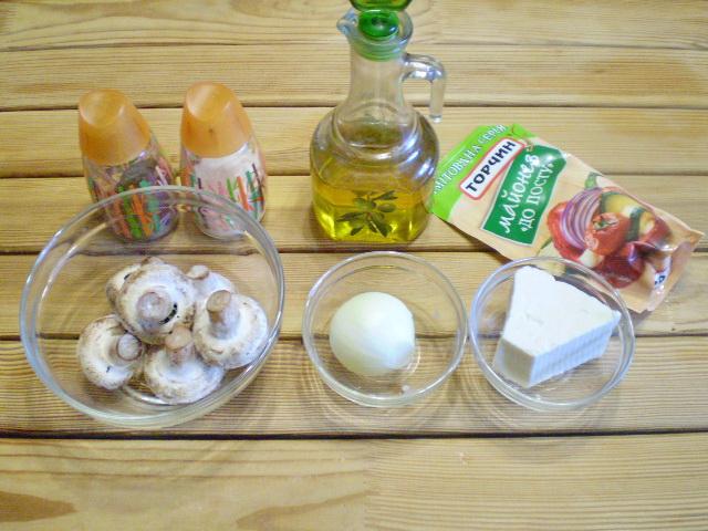 Рецепт Грибы фаршированные в духовке