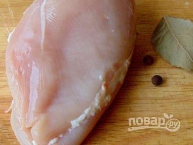 Салат с куриной грудкой - фото шаг 1