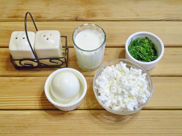 Рецепт Салат из творога с зеленью