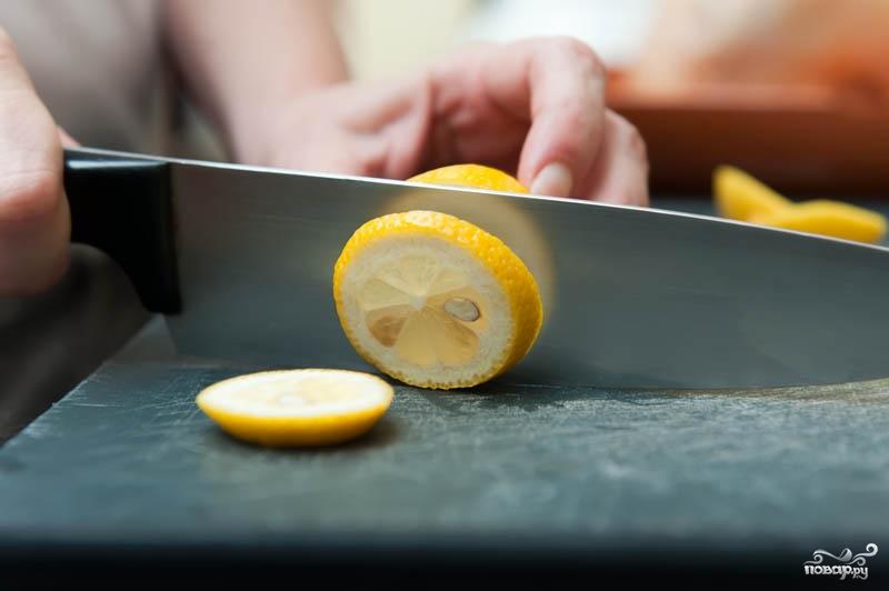 Рецепт Курица в духовке с лимоном