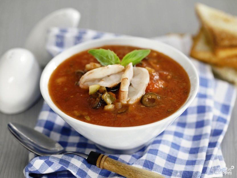 Простой суп из морепродуктов в мультиварке