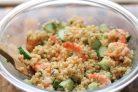 Салат с кускусом и креветками