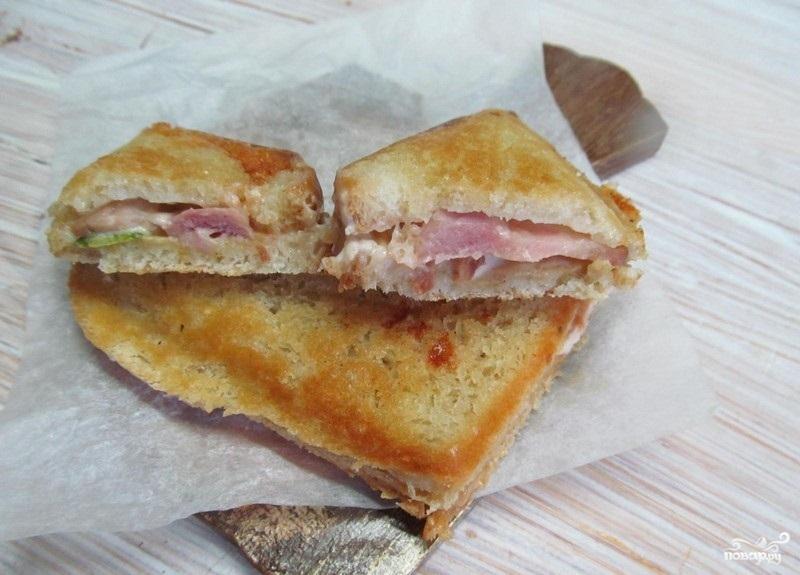 Горячие бутерброды в бутерброднице - фото шаг 4