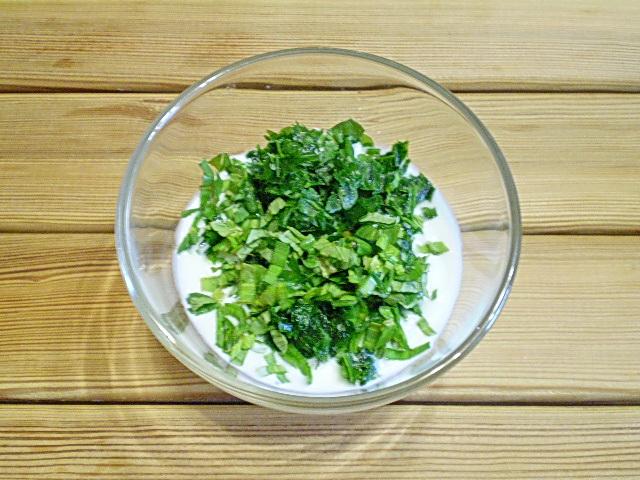 Кефир с зеленью - фото шаг 3