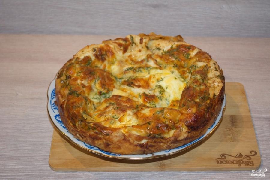 Сырный пирог в духовке рецепты с
