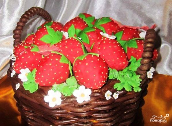 """Торт """"Корзина"""""""