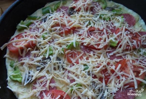 Пицца на дрожжевом тесте - фото шаг 5
