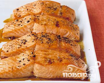 Рецепт Лосось в глазури из соевого соуса