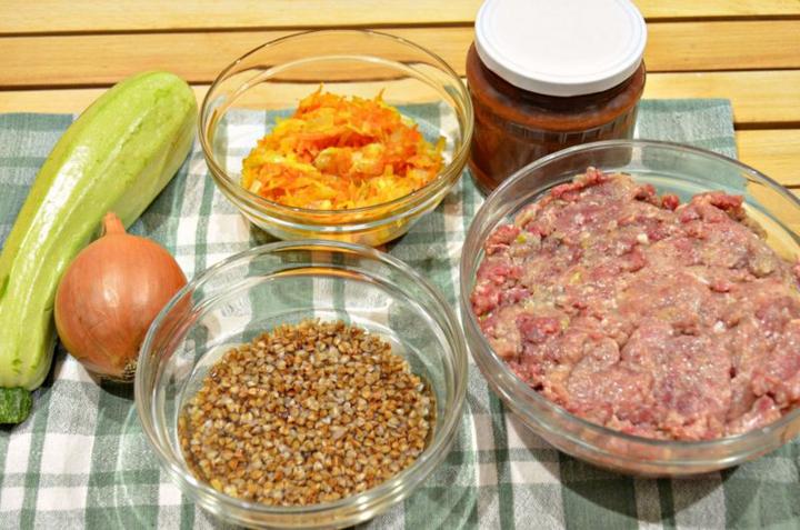 Рецепт Ежики с кабачками