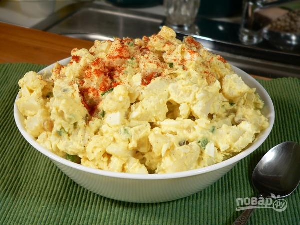 Картофельный салат на гарнир