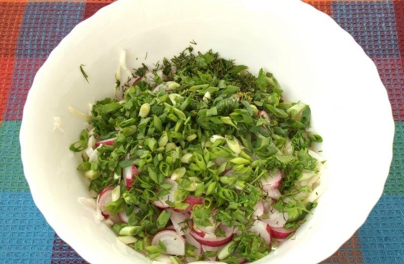 Салат к семге - фото шаг 3