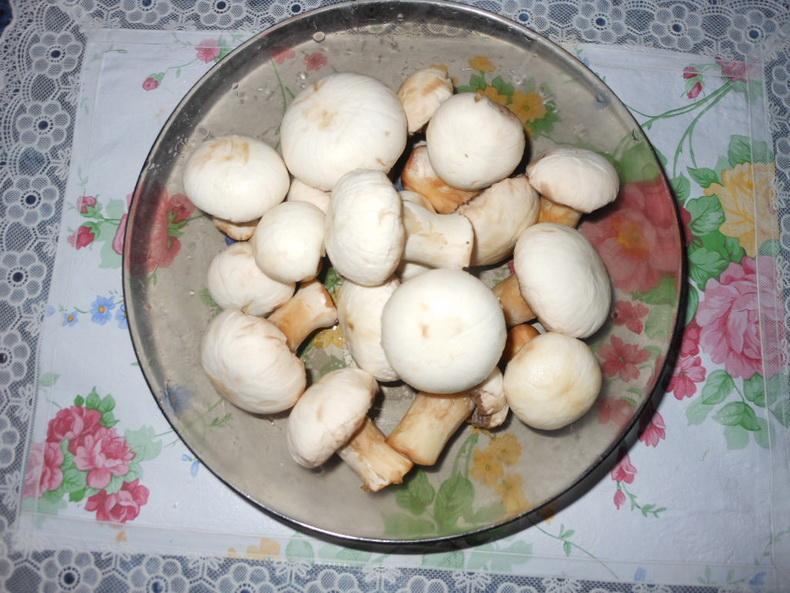 Рецепт Суп грибной на курином бульоне