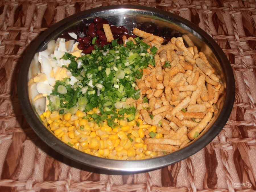 Салат из фасоли и яиц - фото шаг 4