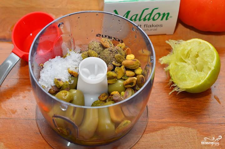 Салат с фисташками - фото шаг 3