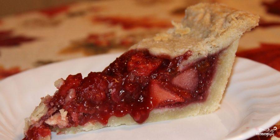 Рецепт Яблочный пирог с малиной