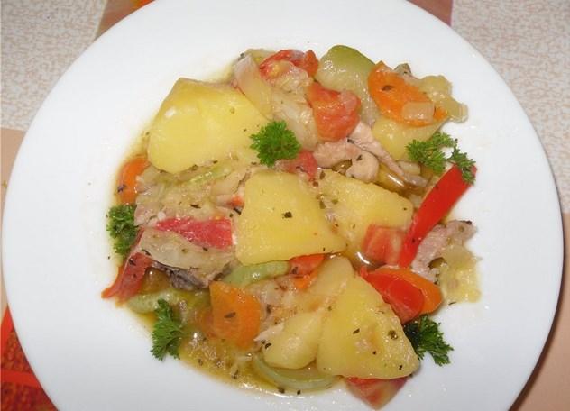 Курица с кабачками и картошкой - фото шаг 7