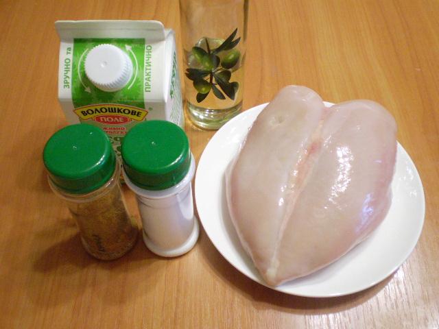 Куриное филе в кефире - фото шаг 1