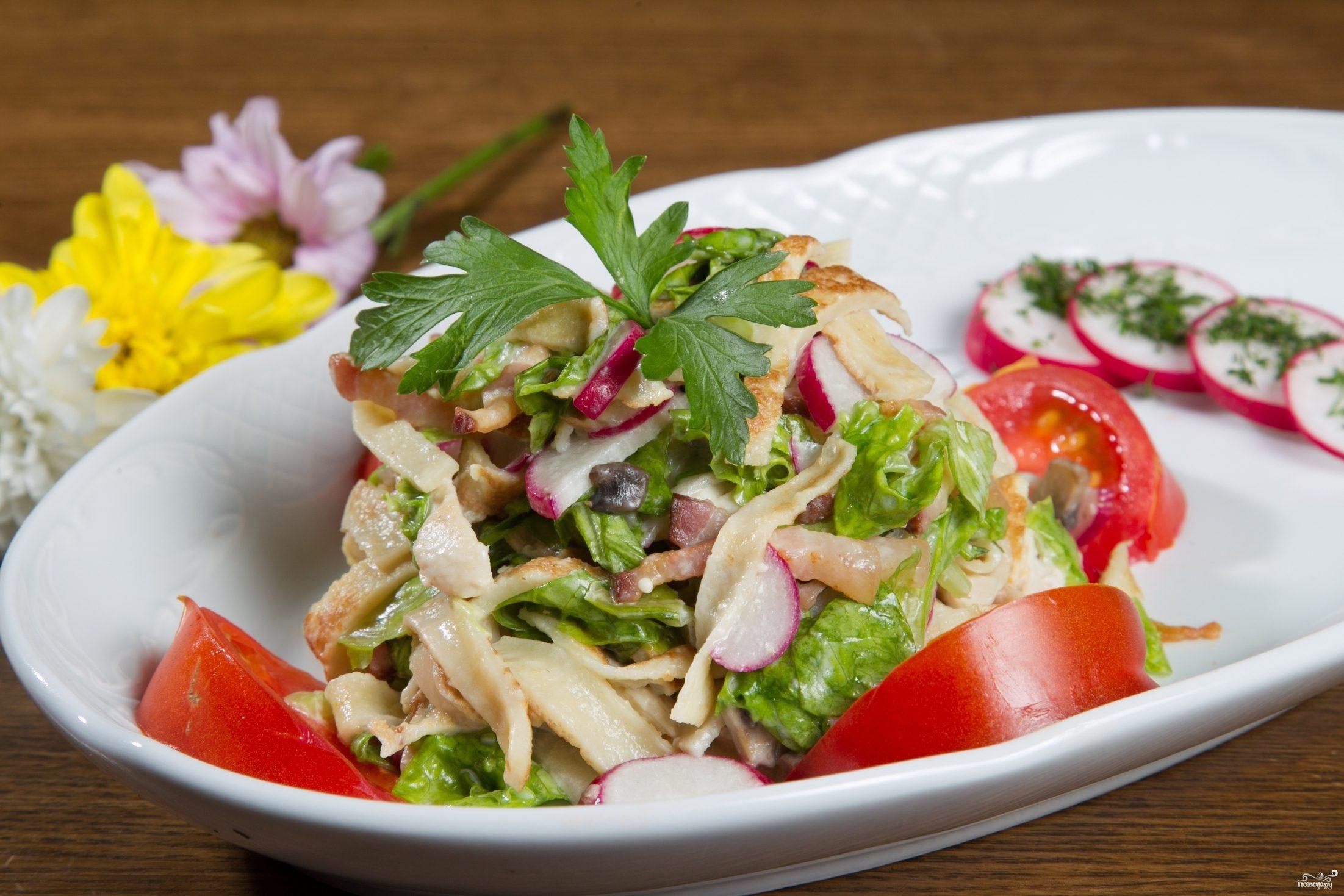 Рецепт Блинный салат