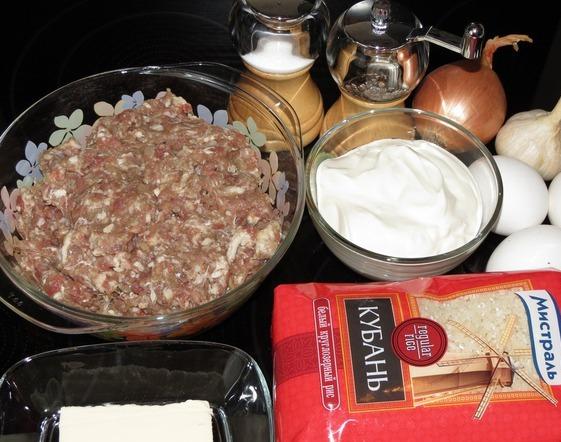 Рецепт Запеканка рисовая с мясом